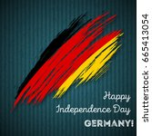 germany independence day... | Shutterstock .eps vector #665413054