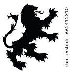 lion silhouette. editable...   Shutterstock .eps vector #665415310