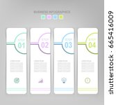 infographic template of four... | Shutterstock .eps vector #665416009