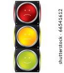 smiley traffic light design