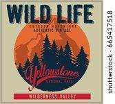 vintage vector of wilderness...   Shutterstock .eps vector #665417518