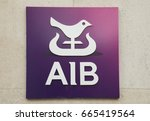 Small photo of Dublin, Ireland - June 2, 2017 - Allied Irish Banks, AIB, logo outside a Dublin, Ireland branch