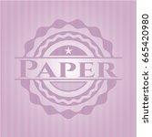 paper vintage pink emblem | Shutterstock .eps vector #665420980