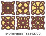 set of celtic design elements | Shutterstock .eps vector #66542770