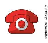 telephone service isolated icon