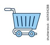 shopping cart isolated icon | Shutterstock .eps vector #665434288
