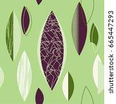 mid century modern 1950s style... | Shutterstock .eps vector #665447293