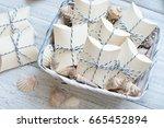 nautical style wedding favors | Shutterstock . vector #665452894