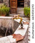 Small photo of Antique Water Tap in Ancient City of Damascus (Syrian Arab Republic)