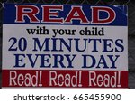 read with your child sign | Shutterstock . vector #665455900