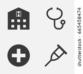 drug icons set. collection of... | Shutterstock .eps vector #665458474