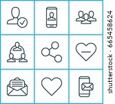 communication icons set.... | Shutterstock .eps vector #665458624