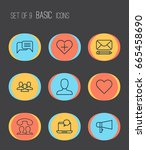 social icons set. collection of ... | Shutterstock .eps vector #665458690