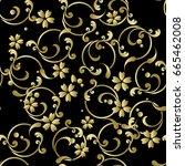 japanese pattern arabesque | Shutterstock .eps vector #665462008