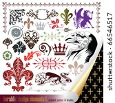 vecor set  heraldry   elements... | Shutterstock .eps vector #66546517