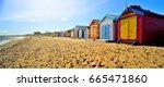 brighton beach boxes in hot... | Shutterstock . vector #665471860