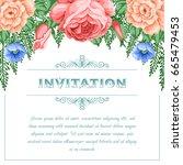 bridal shower or wedding... | Shutterstock .eps vector #665479453