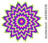 colorful rainbow flower. motion ... | Shutterstock .eps vector #665483158