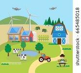 smart farming. farm management...   Shutterstock .eps vector #665485018