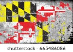 the flag of maryland | Shutterstock . vector #665486086