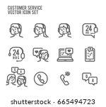 customer service vector icon... | Shutterstock .eps vector #665494723