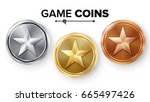 game gold  silver  bronze coins ...