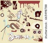 design elements set | Shutterstock .eps vector #665498788