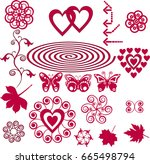 design elements set | Shutterstock .eps vector #665498794