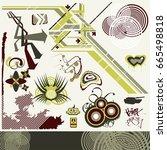 design elements set | Shutterstock .eps vector #665498818