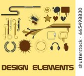 design elements set | Shutterstock .eps vector #665498830