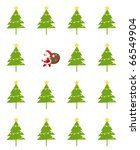 santa and tree | Shutterstock .eps vector #66549904