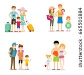 flat people holiday  family... | Shutterstock .eps vector #665501884