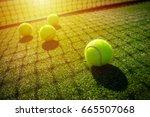 Soft Focus Of Tennis Ball On...