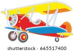 toy airplane | Shutterstock .eps vector #665517400
