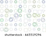 abstract background with shape... | Shutterstock .eps vector #665519296