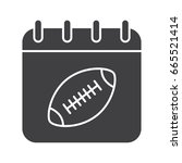 super bowl date glyph icon.... | Shutterstock .eps vector #665521414