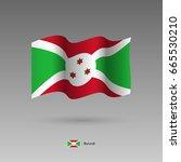 burundi flag. official colors... | Shutterstock .eps vector #665530210