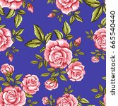 vector seamless pattern with... | Shutterstock .eps vector #665540440