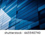detail glass building... | Shutterstock . vector #665540740