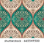 luxury old fashioned damask... | Shutterstock .eps vector #665549500