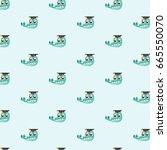vector seamless pattern with... | Shutterstock .eps vector #665550070