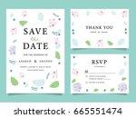 wedding invitation card... | Shutterstock .eps vector #665551474