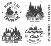 camper and caravaning club.... | Shutterstock . vector #665557066