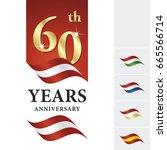 anniversary 60 th years... | Shutterstock .eps vector #665566714