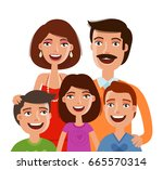 happy large family  portrait.... | Shutterstock .eps vector #665570314