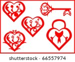 heart symbol collection set | Shutterstock .eps vector #66557974