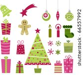 cute christmas collection | Shutterstock .eps vector #66557992