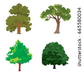 tree set | Shutterstock . vector #665580034