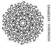 vector  contour  design element ... | Shutterstock .eps vector #665589463