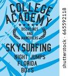 american college academy... | Shutterstock .eps vector #665592118